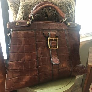 Fossil Croc Leather bag